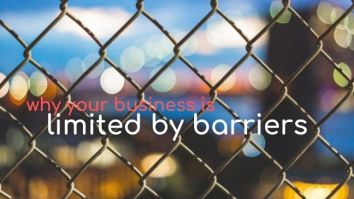 Why your business is limited by barriers
